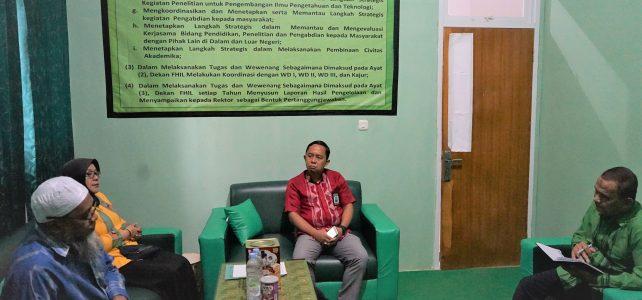 Rapat Pimpinan Dekan, WD I, Kajur dan Sekjur Ilmu Lingkungan FHIL UHO, Kendari, 12 Maret 2020